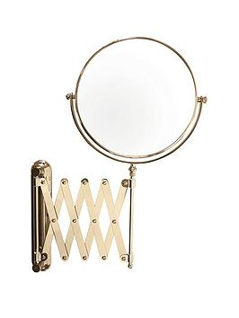 danielle-creations-gold-plated-extending-wallmount-mirror-double-sided-viewing