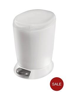 simplehuman-6-litre-plastic-bin-white
