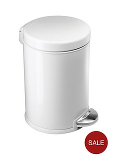 simplehuman-3-litre-steel-bin-white