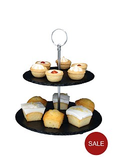 apollo-slate-2-tier-cake-stand-black