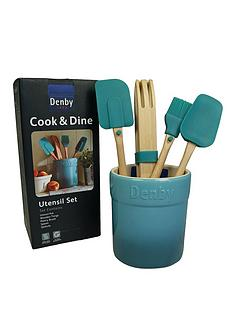 denby-azure-5-piece-utensil-set