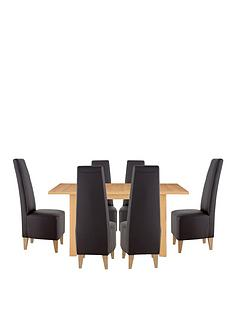 primo-extending-dining-table-6-manhattan-chairs-buy-and-save