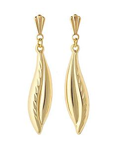 love-gold-9-carat-yellow-gold-double-curve-diamond-cut-drop-earrings
