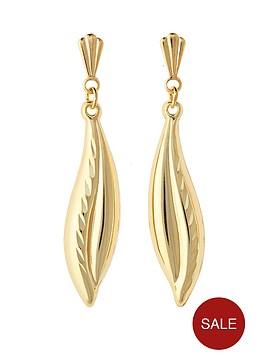 love-gold-9-carat-yellow-gold-double-curve-diamond-cut-drop-earrings