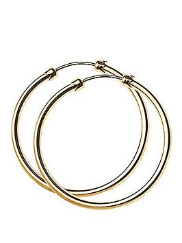 love-gold-9-carat-yellow-gold-26-mm-plain-capped-tube-hoop-earrings