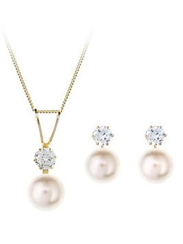 love-gem-9-carat-yellow-gold-pearl-and-cubic-zirconia-earring-and-pendant-set