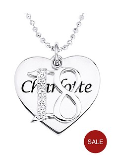 love-silver-personalised-sterling-silver-coming-of-age-cubic-zirconia-set-pendant
