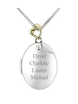 keepsafe-personalised-sterling-silver-and-gold-plated-diamond-set-family-locket
