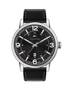 tommy-hilfiger-black-dial-and-black-leather-strap-mens-watch