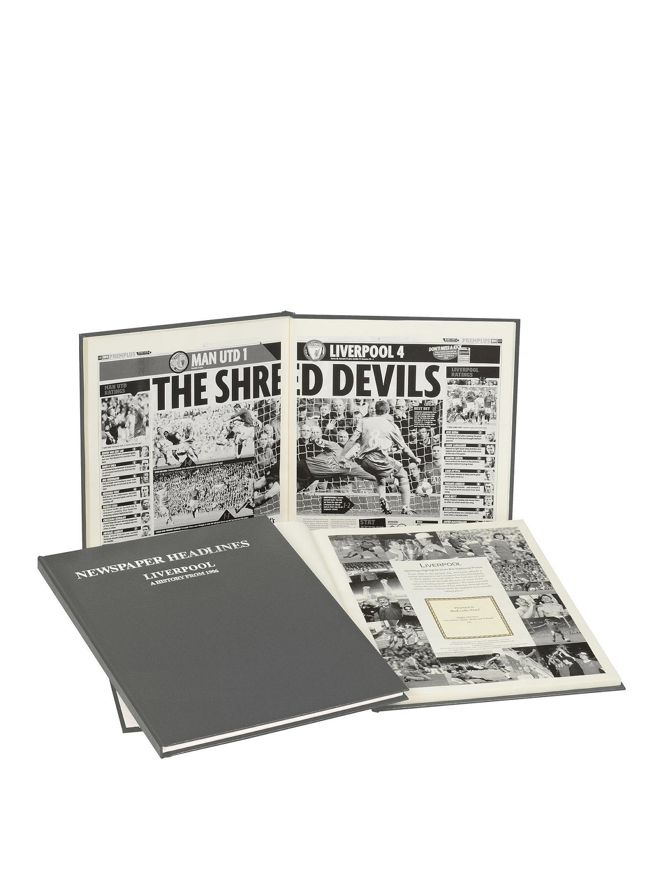 Personalised Football Newspaper Book - Premier League Teams