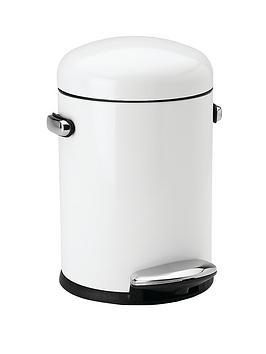 simplehuman-45-litre-retro-bin-white