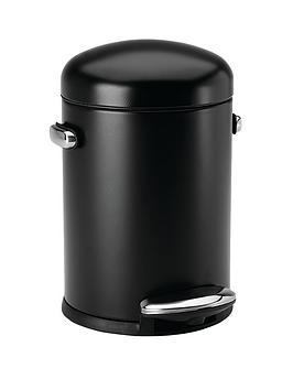 simplehuman-45-litre-retro-bin-black