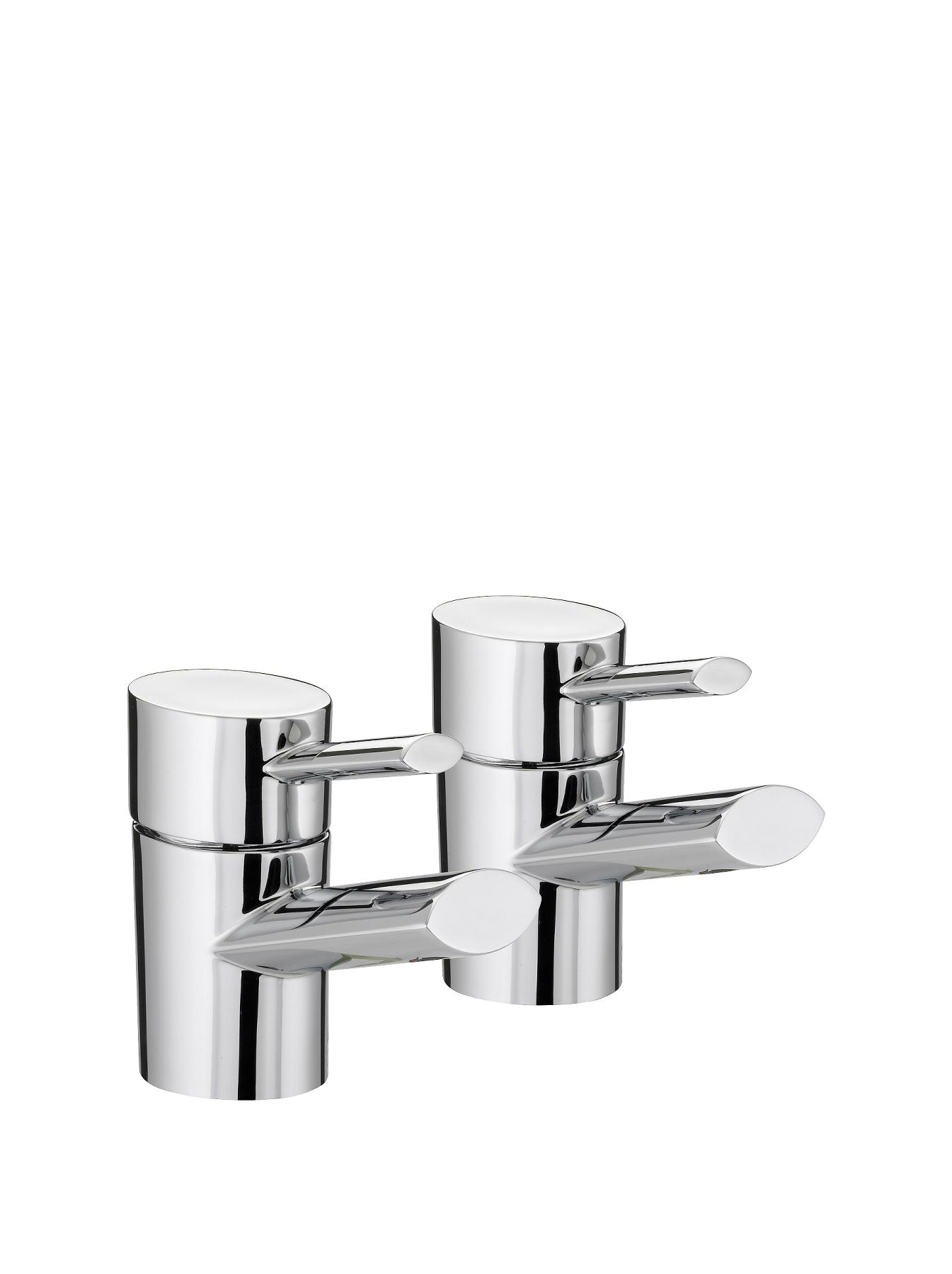 Bristan Oval Basin Taps - Chrome