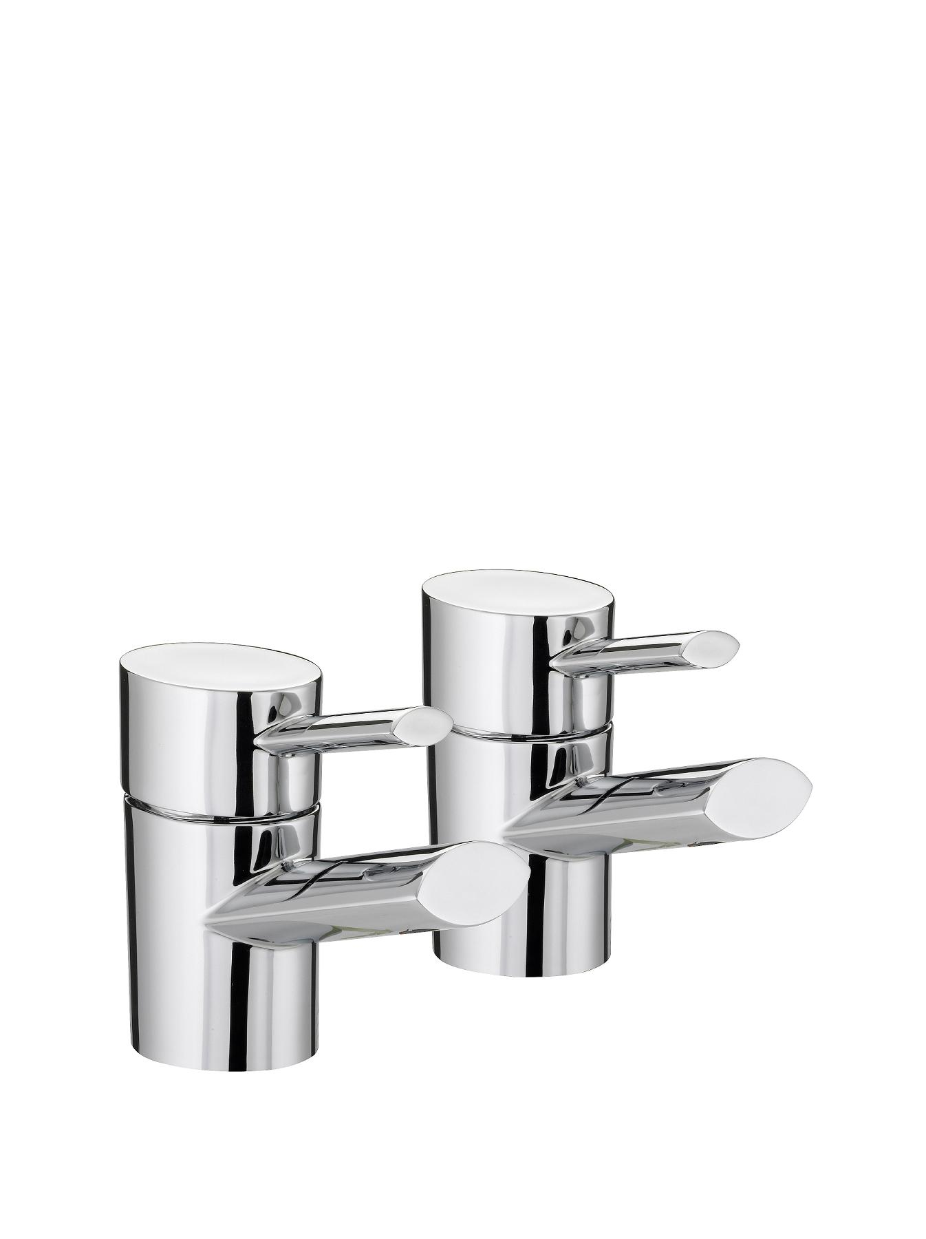 Bristan Oval Bath Taps - Chrome