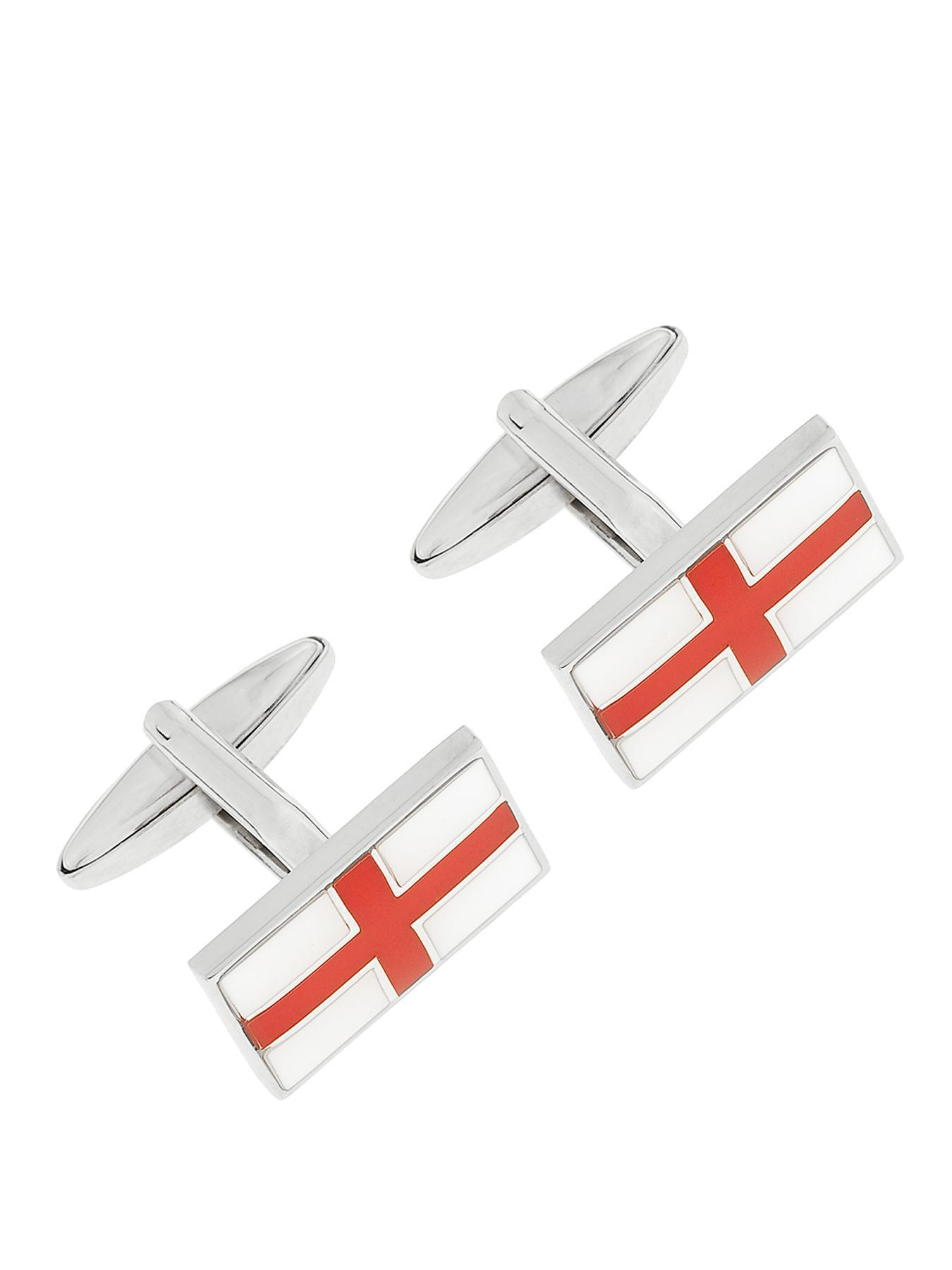 Enamel Plated St George Cross Cufflinks