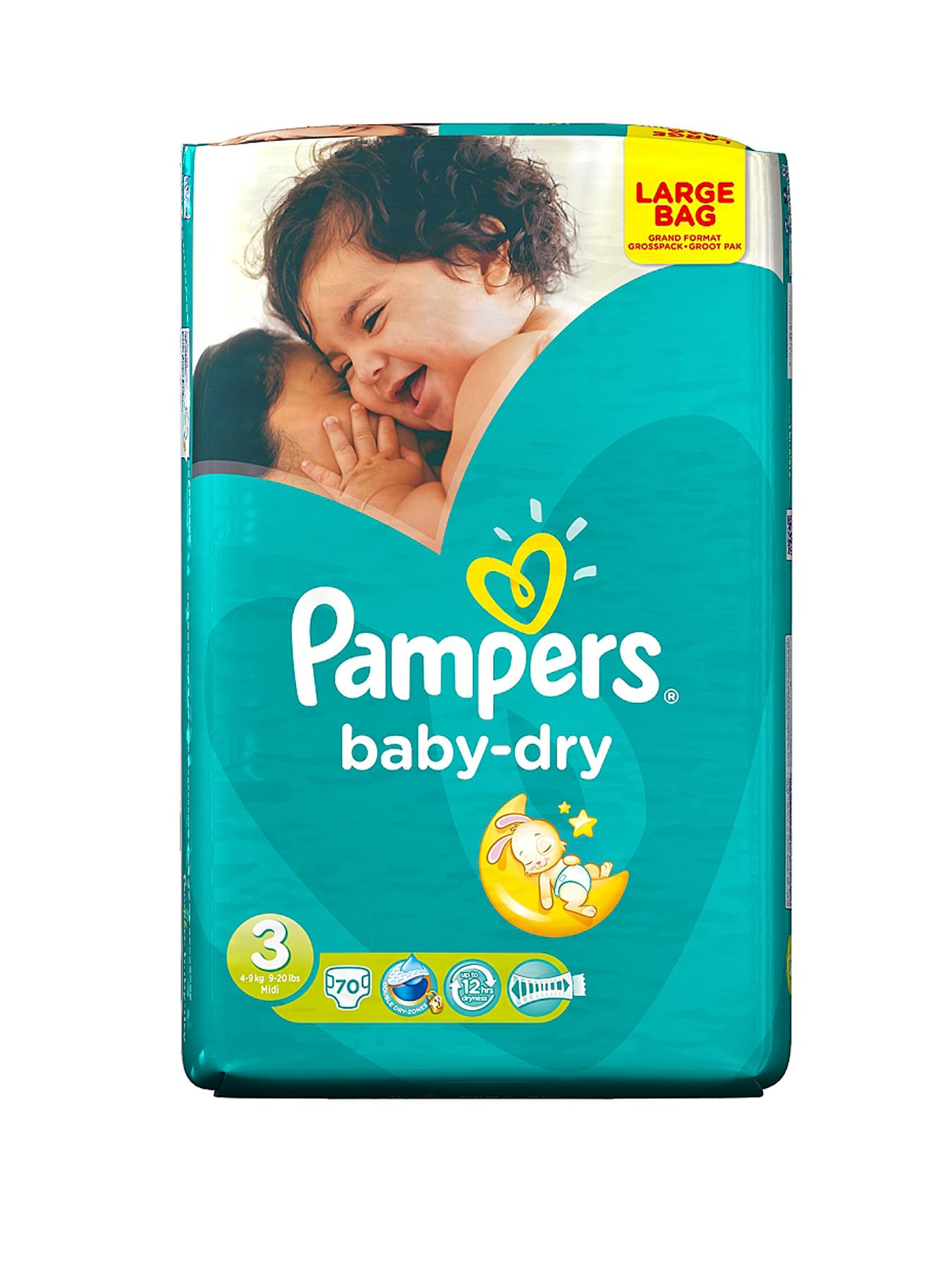 Pampers Baby Dry Large Pack Midi 70's