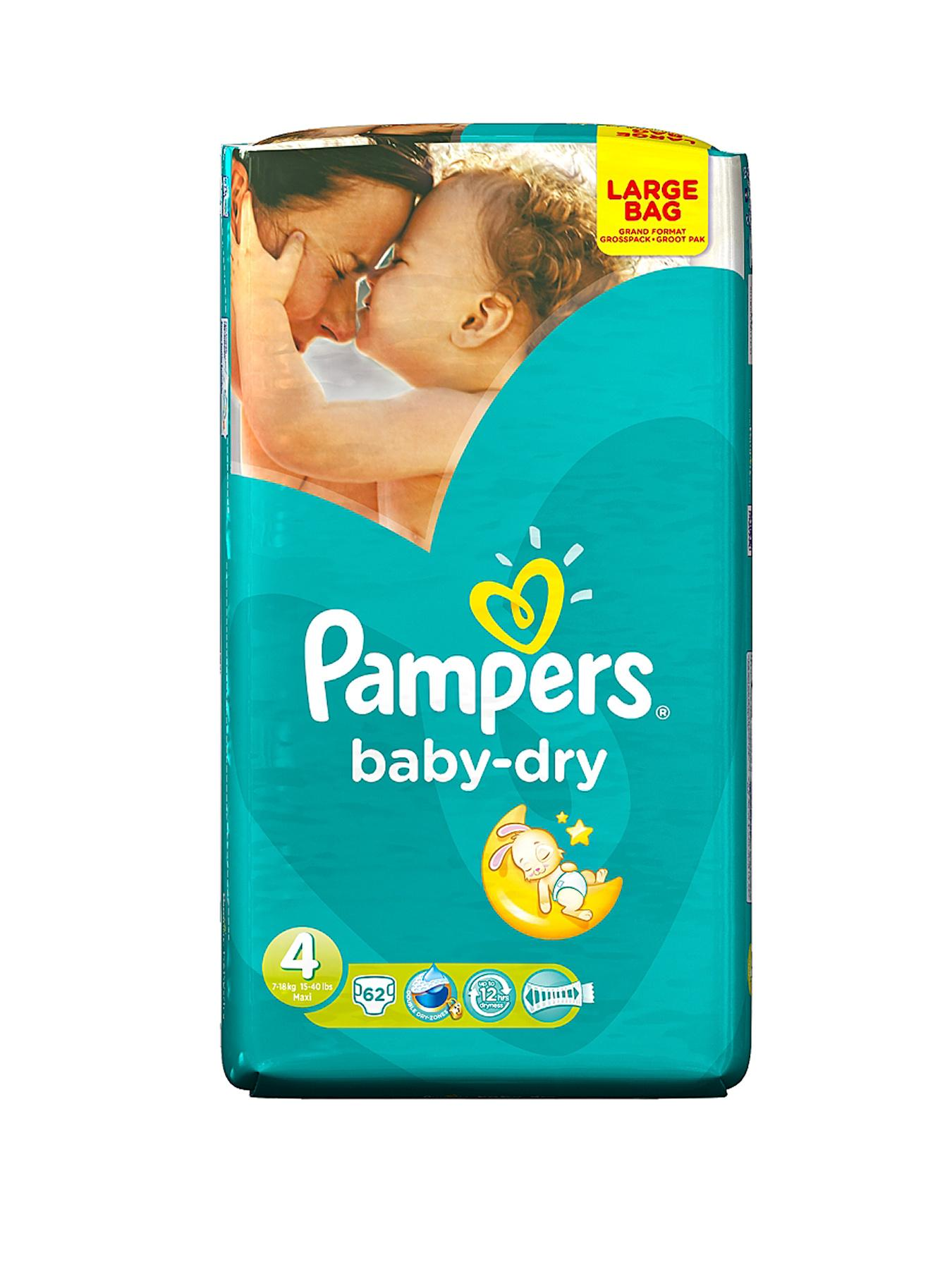 Pampers Baby Dry Large Pack Maxi 62's