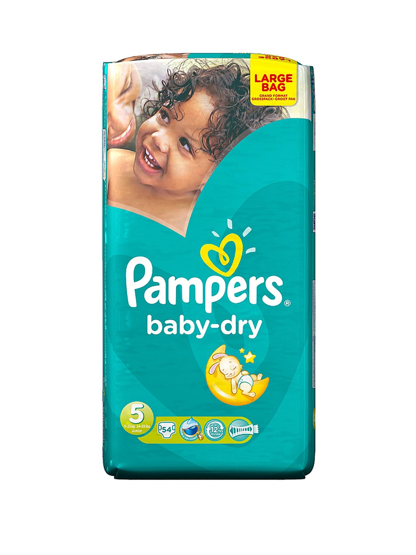 Pampers Baby Dry Large Pack Junior 54's
