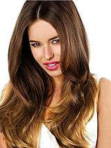 Double Volume Ombre 100% Remy Human Hair 22 inch Hair Piece