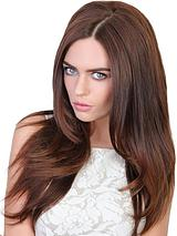 Double Volume Straight Synthetic Hair Piece