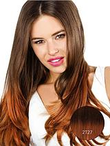 Double Volume Ombre Straight Synthetic Hair Piece