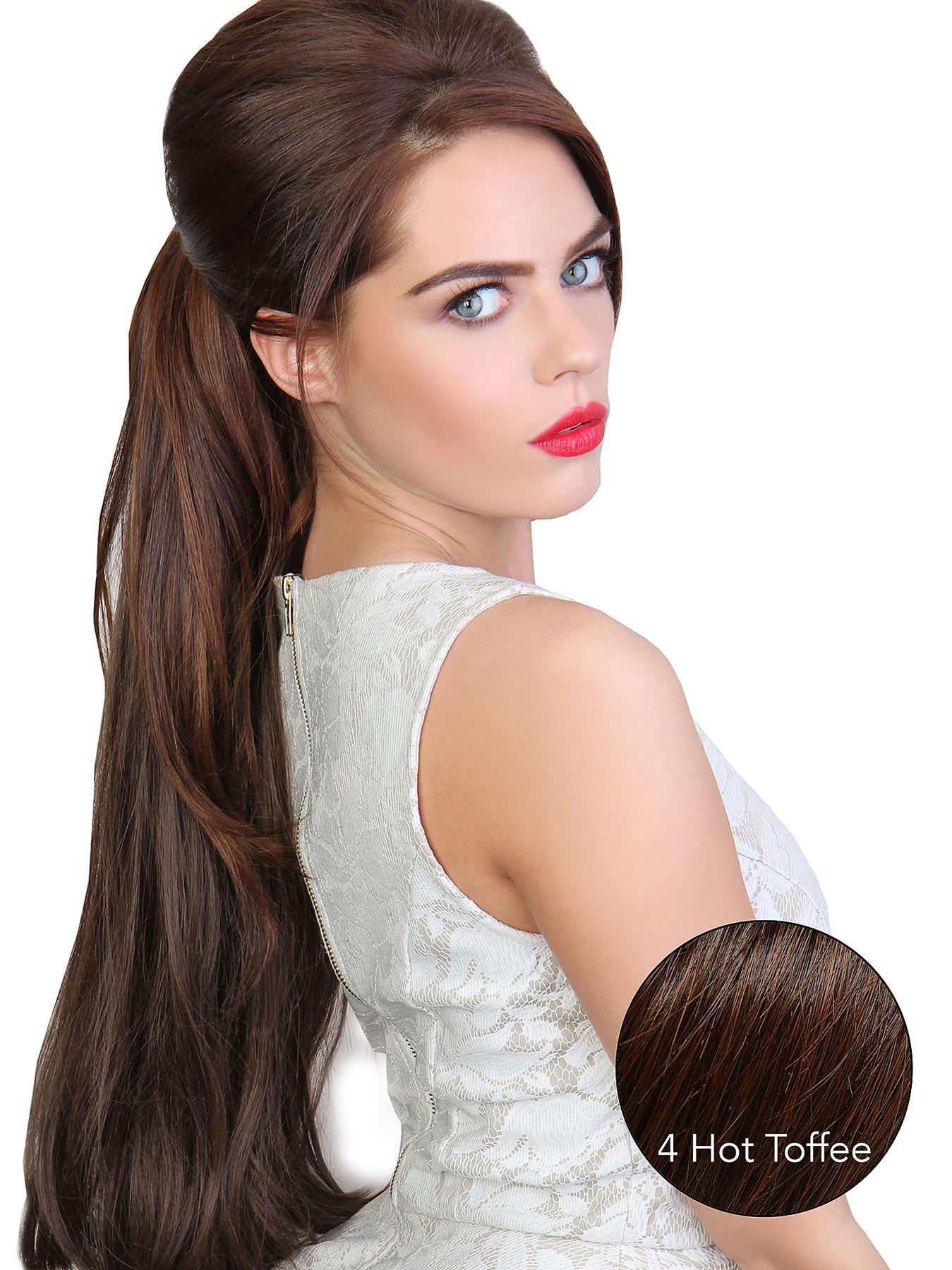 Beauty Works Volume Straight Synthetic Hair Pony Piece, Red