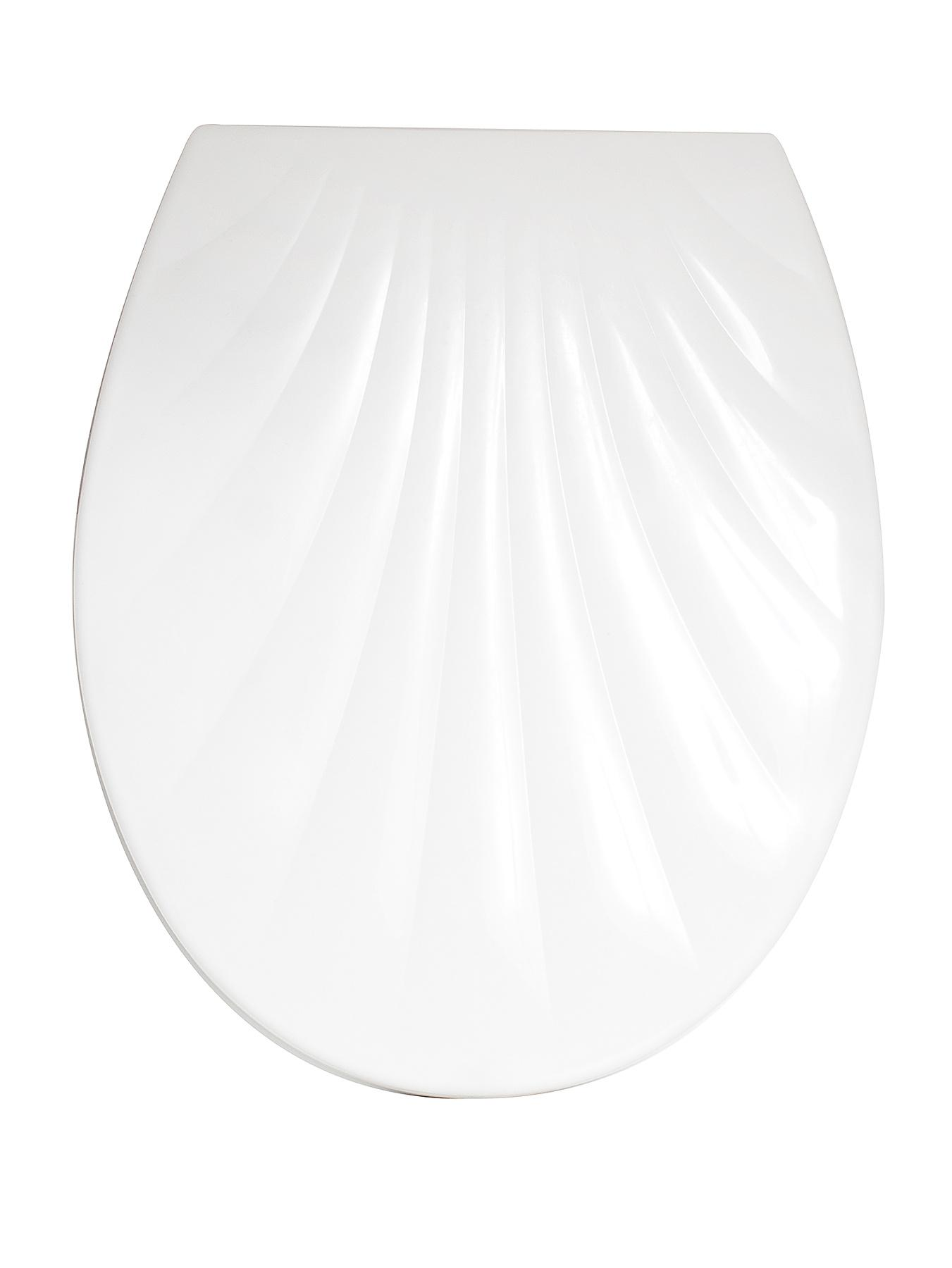 Sabichi White Shell Designed Toilet Seat