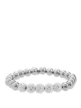 lola-and-grace-rhodium-plated-sparkle-stretch-bracelet-with-swarovski-elements