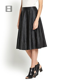 love-label-midi-pu-length-skater-skirt
