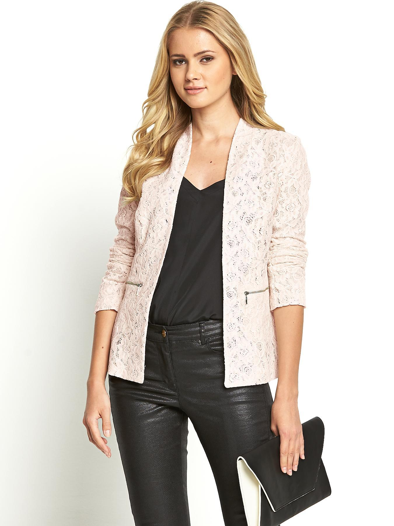 South Lace Jacket - Black, Black,Nude