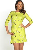 Frill Hem Printed Dress