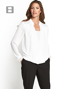 stud-shoulder-wrap-blouse