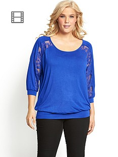 banded-hem-lace-insert-batwing-top