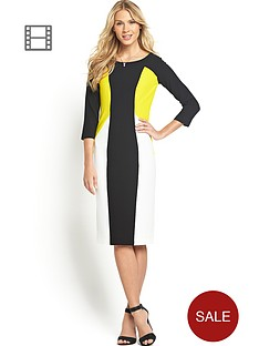 south-colour-block-midi-dress