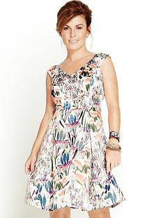 coleen-orchid-print-prom-dress