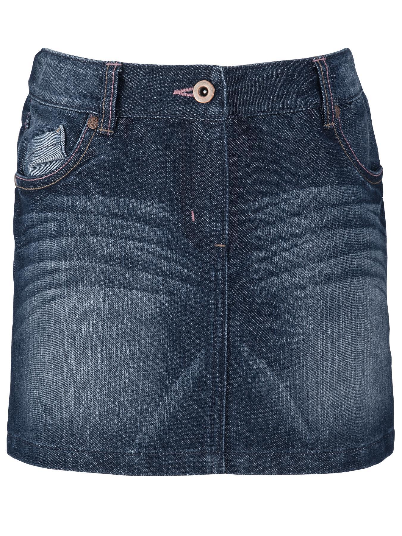 Freespirit Girls Dark Wash Denim Skirt