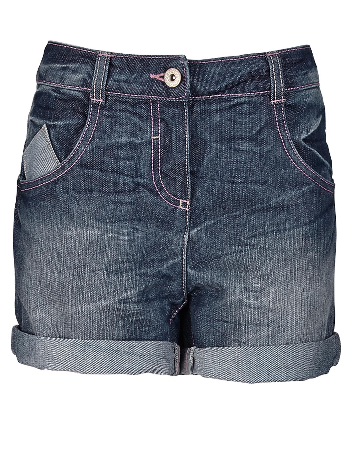 Freespirit Girls Light Wash Denim Shorts