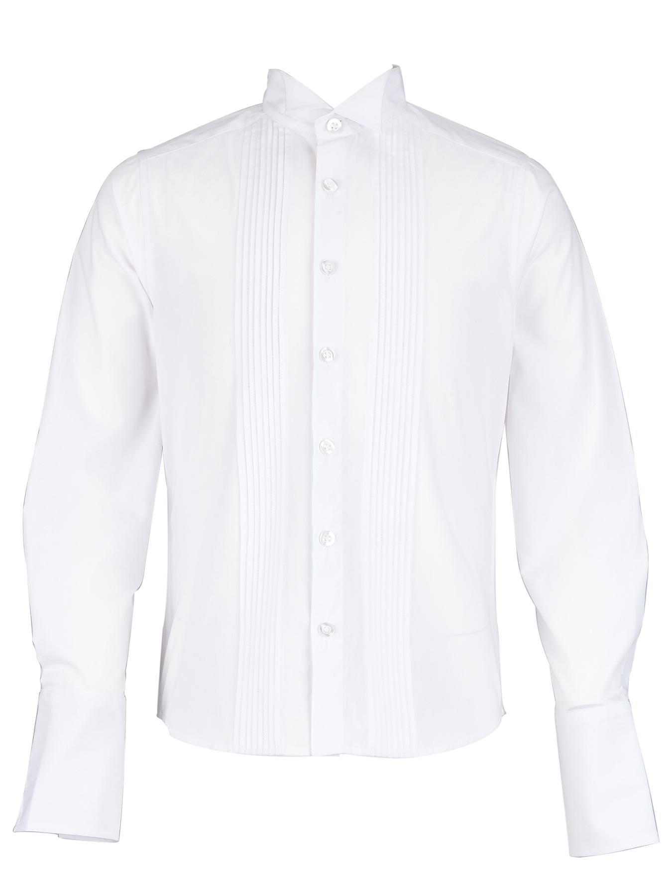 Demo Boys Smart Pintuck Shirt - White, White