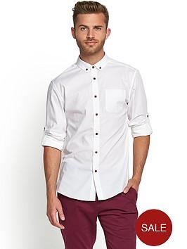 goodsouls-mens-long-sleeve-roll-tab-sleeve-cotton-poplin-shirt