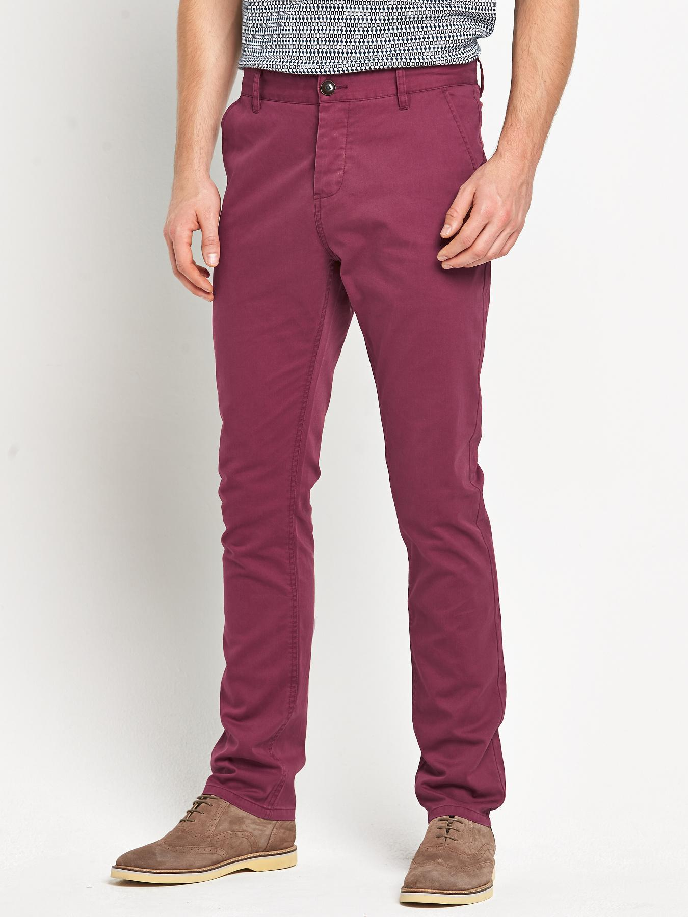 Goodsouls Mens Slim Fit Chinos