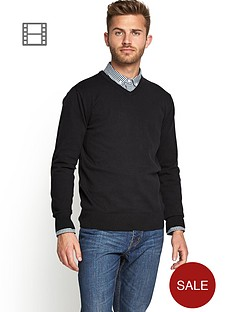 v-neck-knit-blk