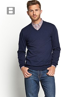 v-neck-knit-navy