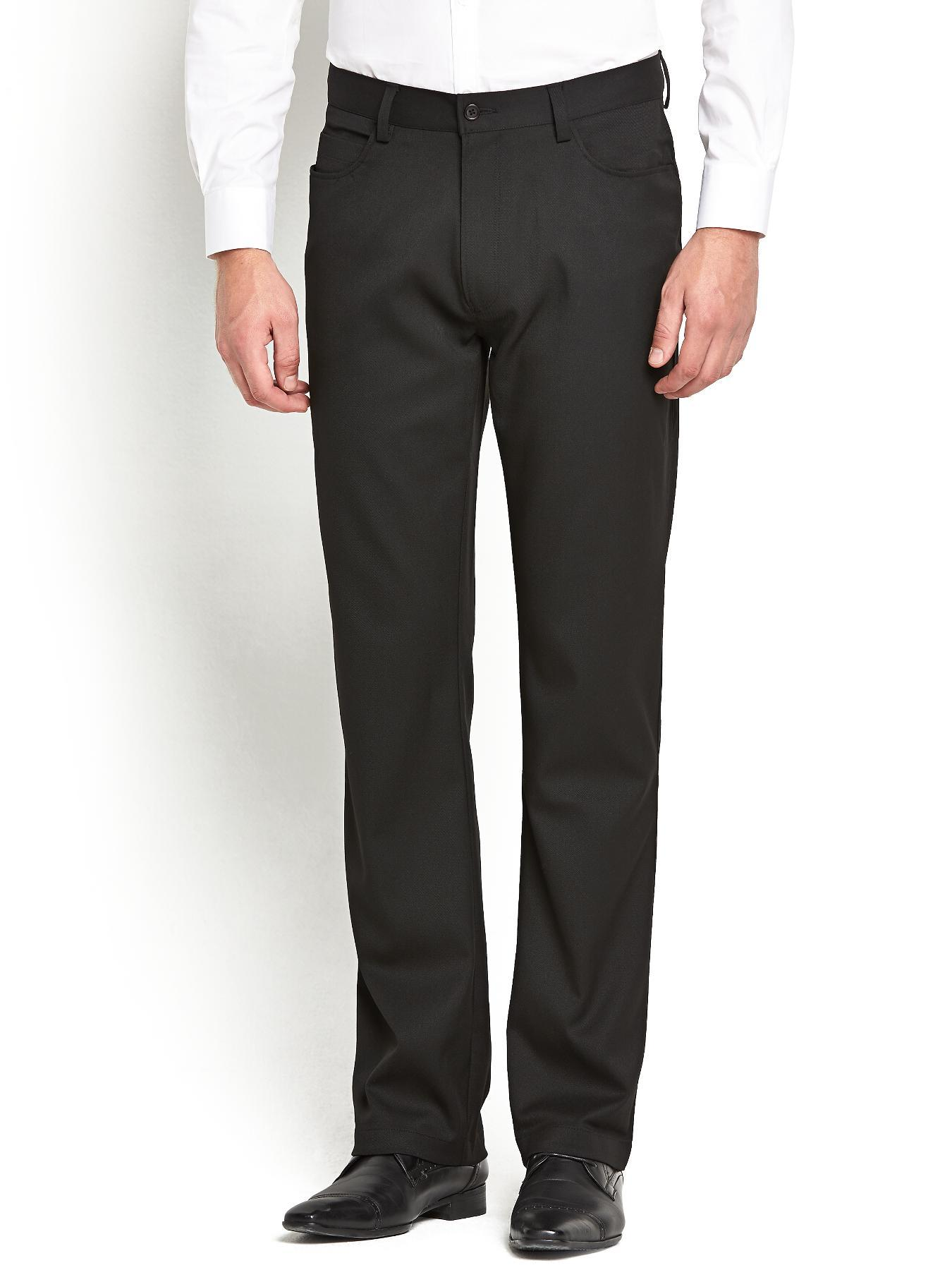 Taylor & Reece Mens 5 Pocket Trousers - Black, Black