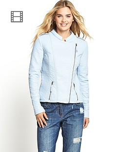 south-pastel-leather-look-biker-jacket