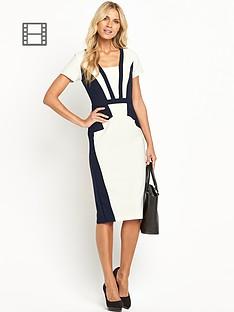 petite-stepped-blocking-dress