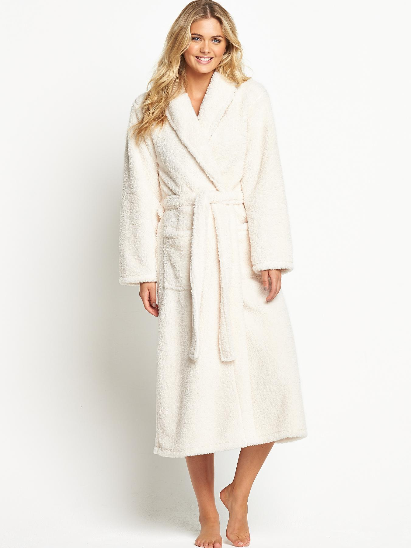 Sorbet Super Soft Robe - Cream, Cream