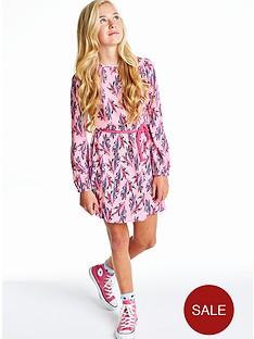 girls-feather-print-dress