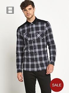 ls-double-pocket-brushed-check-shirt