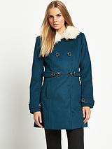 Jewel Button Peacoat