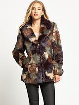 Multi Fur Coat